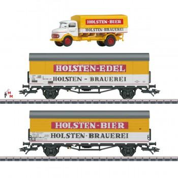 """(Neu) Märklin MHI 46172 Bierkühlwagen-Set """"Holsten"""", Ep.IV,"""