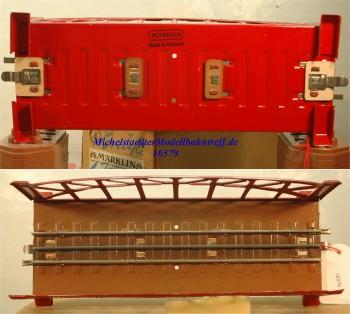 Märklin 467.2 Bogenbrücke, rot, 18 cm, (16579)