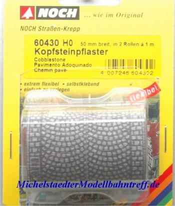 (Neu) Noch 60430 H0 Kopfsteinpflaster,