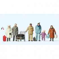 (Neu) Preiser 14038 Reisende in Winterkleidung,