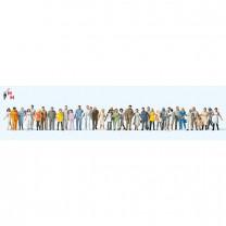 (Neu) Preiser 14402 Stehende und gehende Passanten, 36 Figuren,