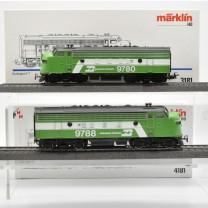"Märklin 3181/4181 Diesellok F 7 mit B-Unit ""Burlington"", (22696)"