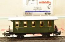 Märklin 4039 Plattformwagen-Privatbahnwagen, (18177)