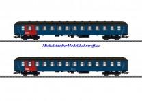 (Neu) Märklin 42695 Reisezugwagen-Set, 2 Wagen, DSB, Ep.IV,