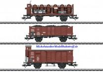 (Neu) Märklin 46394 Güterwagen-Set zu Dampflok T3, KPEV, Ep.I,