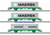 (Neu) Märklin 47726 Containerwagen-Set GC, der SJ, Ep.VI,