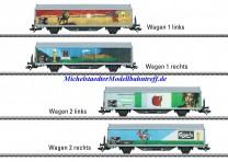 (Neu) Märklin 48342 Schiebewandwagen-Set, SBB, Ep. VI,