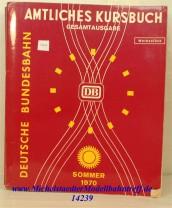 Amtliches Kursbuch Sommer 1970, Original (14239)
