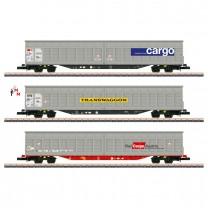 (Neu) Märklin Spur Z 82418 Großraum-Schiebewandwagen-Set,Ep.VI,
