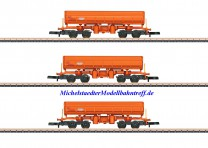 (Neu) Märklin 82435 Spur Z Seitenkippwagen-Set, ÖBB, Ep.VI,