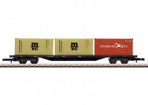 (Neu) Märklin Spur Z 82662 Containertragwagen, DB, Ep.IV,