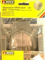 (Neu) Noch 58051 Steinmauer, Tunnelportal, H0, 1-gleisig,