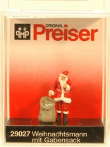 (Neu) Preiser-Weihnachten 29027 Weihnachtsmann mit Gabensack,