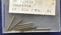(Neu) Märklin E765520 Zugfedern, 20mm, einzeln,