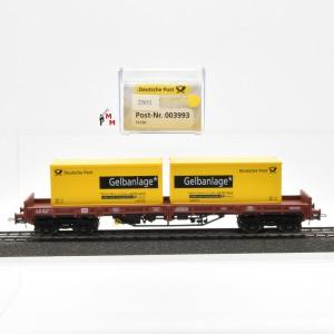 Electrotren 003993 Niederbordwagen der DB AG mit 2 Container, (22652)