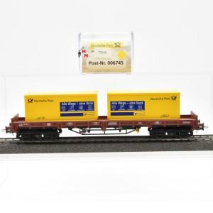 Electrotren 006745 Niederbordwagen der DB AG mit 2 Container, (22636)