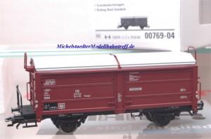 (Neu) Märklin 00769-04 Schiebedachwagen mit Bremserbühne, DB,