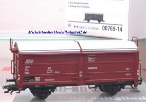 (Neu) Märklin 00769-14 Schiebedachwagen ohne Bremserbühne, DB,