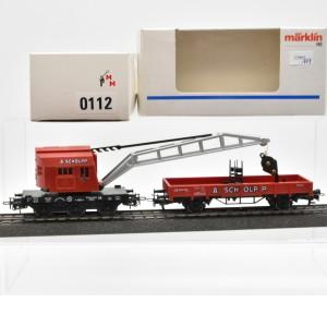 """Märklin 0112.777 Kranwagenset aus der Zugpackung """"Kibri-Ausstellungsanlage"""", (22995)"""