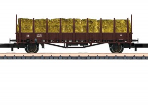 (Neu) Märklin Spur Z 82130 Rungenwagen mit Ladung, DB, Ep.III,
