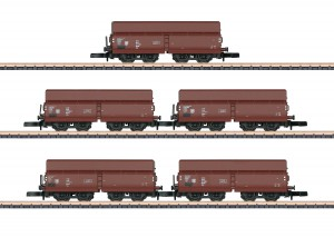 (Neu) Märklin 82802 Schüttgutwagen-Set, DR, Ep.IV, 5 Wagen, Spur Z,