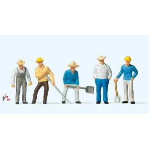 (Neu) Preiser 10031 Gleisbauarbeiter,