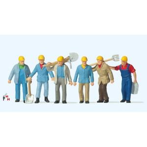 (Neu) Preiser 10033 Gleisbauarbeiter,