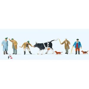 (Neu) Preiser 10048 Viehhandel,