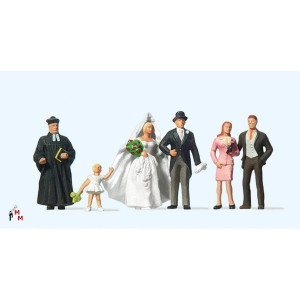 (Neu) Preiser 10057 Brautpaar ev. Geistlicher,