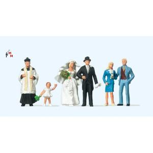 (Neu) Preiser 10058 Brautpaar kath. Geistlicher,