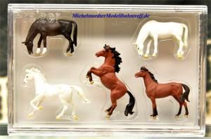 (Neu) Preiser 10156-braun- Pferde,