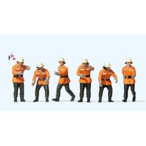 (Neu) Preiser 10242 Feuerwehrmänner im Einsatz,
