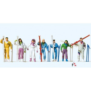 (Neu) Preiser 10316 Wintersportler,