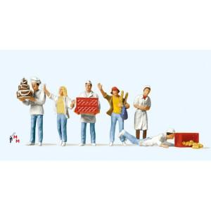 (Neu) Preiser 10377 An der Bäckerei,