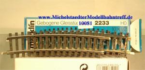 Märklin 2233 Gebogenes Gleis, (10081)