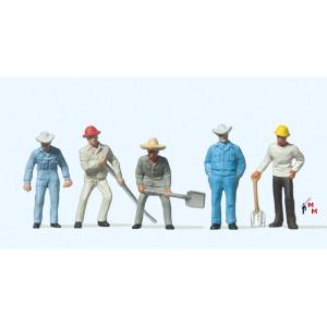 (Neu) Preiser 14017 Gleisbauarbeiter,