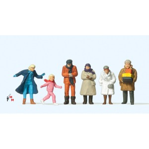 (Neu) Preiser 14037 Passanten im Winter,