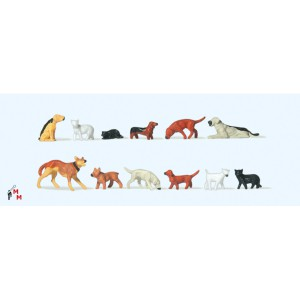 (Neu) Preiser 14165 Hunde und Katzen,