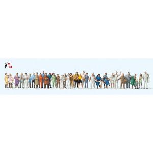 (Neu) Preiser 14412 Stehende und gehende Passanten, 36 Figuren,