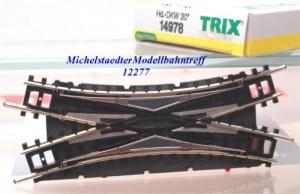 Minitrix 14978 Hand-DKW-Weiche 30°, (12277)