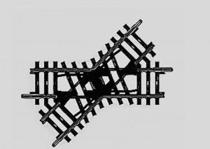 (Neu) Märklin 2258 Kreuzung, 45°, Länge der Gleise 90 mm