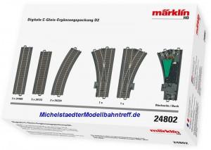 (Neu) Märklin 24802 Digitale C-Gleis-Ergänzungspackung D2,