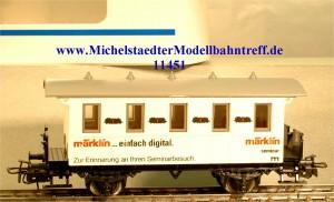 """Märklin 4107/93701 Seminarwagen """"märklin...einfach digital"""", (11"""