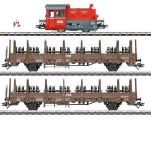 (Neu) Märklin 26617 Zugpackung Köf II Radsatztransport, DSB, Ep.V,