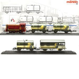 Märklin 2846 Zugset Gleis-Reinigungs-Zug der CFL, (25301)