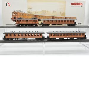"Märklin 2870.2 ""Historischer Schnellzug (Holzzug) der SJ"", digital mit Dec. 60903, (20989)"