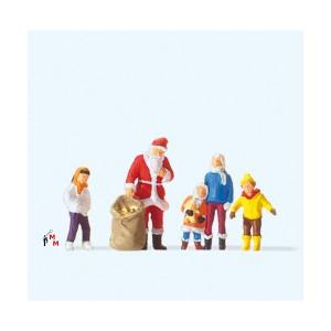 (Neu) Preiser-Weihnachten 29098 Weihnachtsmann mit Kindern,
