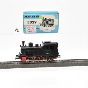 Märklin 3029.3 Dampflok, dreiachsige Tenderlokomotive, digital mit Dec. 6080, (21396)