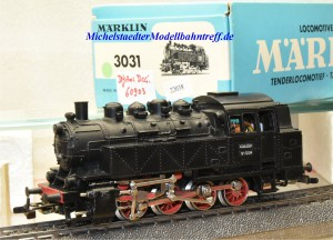 Märklin 3031.1 Dampflok BR 81 mit Telex, digital Dec. 60903, (22038)