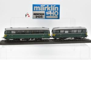Märklin 3135S Schienenbus mit Beiwagen der Belgischen Nebenbahn CFV3V, (22840)